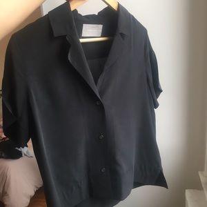 Everlane Silk Notch Collar Shirt